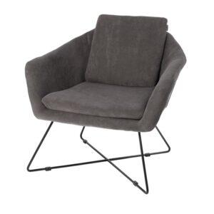 Lounge chair Ridge black 82cm