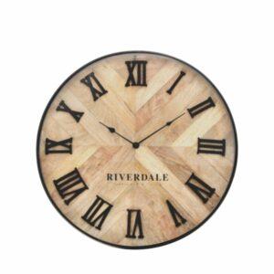 Wall clock Nate brown 46cm