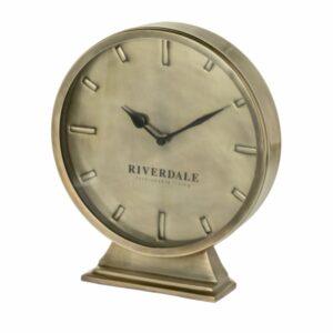 Table clock Chuck gold 29cm