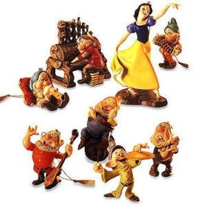 "WDCC Snow white and the seven dwarfs """"ornament set"""""