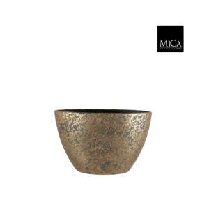 Clemente pot ovaal goud L41xB20XH26cm