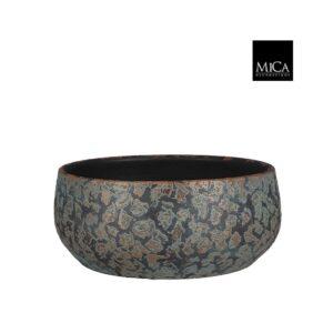 Clemente schaal rond koper - H15xD37cm