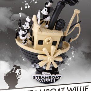 Disney: 90th Mickey Anniversary - Steamboat Willie PVC Diorama