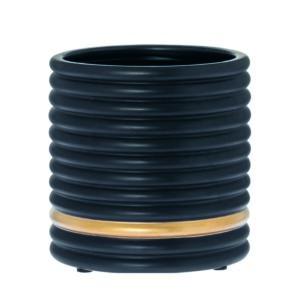 Flower pot Soof black matt 20cm