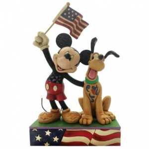 A Banner Day (Mickey & Pluto Patriotic Figurine)
