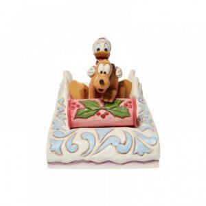 Donald & Pluto Sledding N