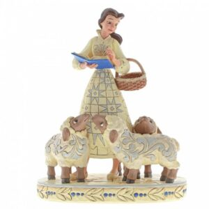 Bookish Beauty (White Woodland Belle with Sheep Figurine)