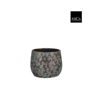 Clemente pot rond koper - h15,5xd19,5cm