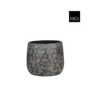 Clemente pot rond koper - h20xd25,5cm