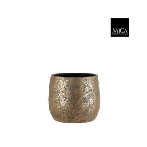 Clemente pot rond goud - h25,5xd32cm