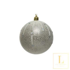 Kerstbal Zilver Plastic