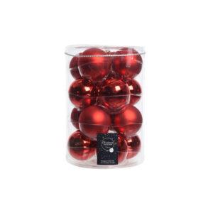 Kerstballen Glas (16 st) 8 cm