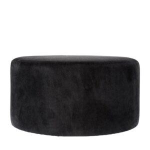 Pouf Ridge black 70cm