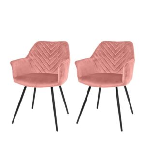 Dining chair 1set/2 Lindy pink 80cm