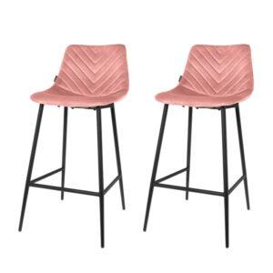 Bar chair 1set/2 Lynn pink 96cm
