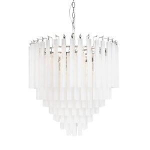Lamp hanging Sienna matt white 61cm