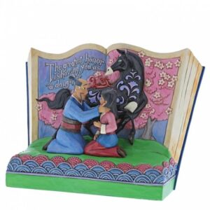 The Greatest Honor is Having You as a Daughter (Mulan Storybook Figurine)