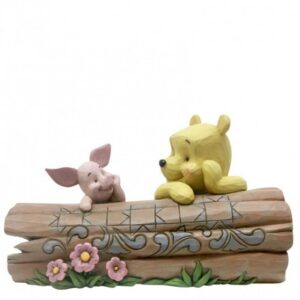 Truncated Conversation (Pooh & Piglet on Log Figurine)
