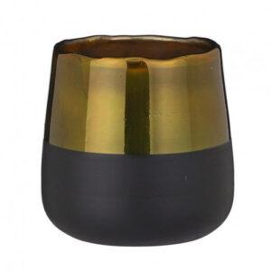 Theelicht houder goud H14XD12cm