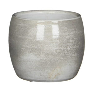 Lester pot rond l. grijs - H12xD14cm