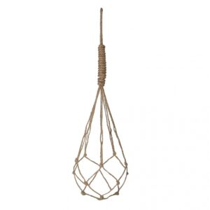 Yula touw bruin voor een pot H9xD10cm - H60cm