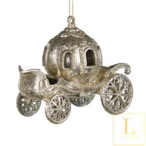 ornament Koets Zilver