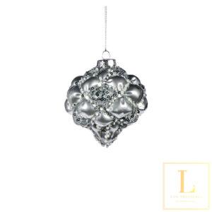 Ornament Zilver Glas