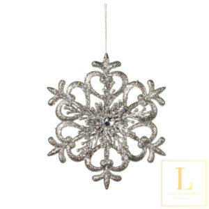 Ornament Sneeuwvlok Zilver