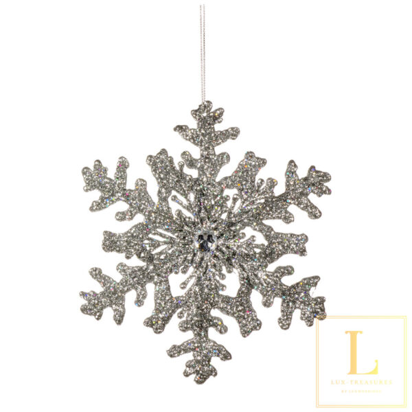 Ornament Sneeuwvlok Zilver COPY
