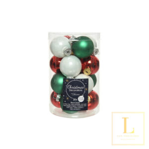 Kerstbal mix Glas