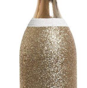 Ornament Champagne Fles Glitter Acryl