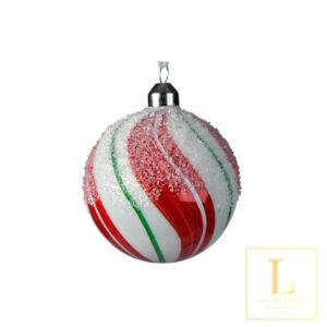 Kerstbal met Strepen Suiker