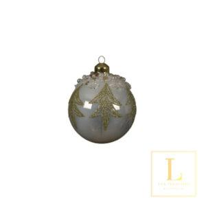 Ornament Wit Glas