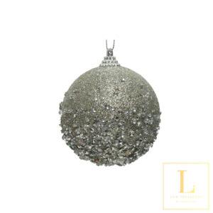 Kerstbal met Diamant en kraaltjes
