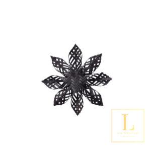 Ornament Ster Zwart Bamboe