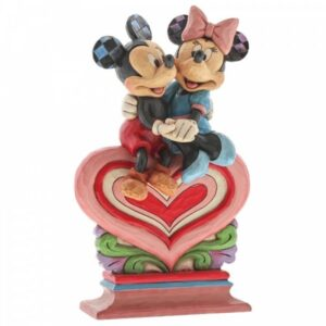 Heart To Heart (Mickey Mouse & Minnie Mouse on Heart Figurine)