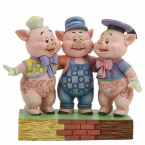 Squealing Siblings (Silly Symphony Three Little Pigs Figurine)