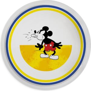 PIZZA PLATE MICKEY I AM YELLOW D.31