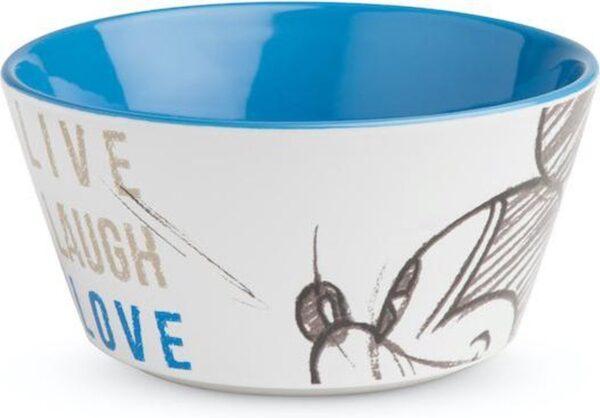 BOWL MICKEY LIVE LAUGH LOVE BLUE ML. 520 D.13
