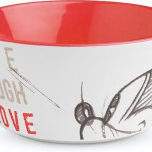 BOWL MICKEY LIVE LAUGH LOVE RED ML. 520 D.13