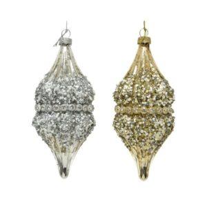 Ornament Olijf echt glas
