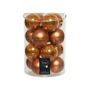 """Kerstballen glas """"amber"""""""