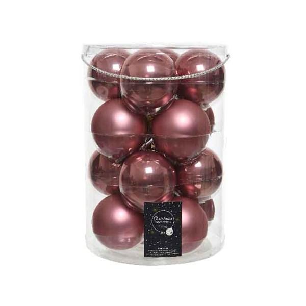 """Kerstballen glas """"velvet pink"""""""