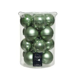 """Kerstballen glas """"sage green"""""""