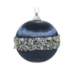 """Kerstbal foam """"night blue"""""""