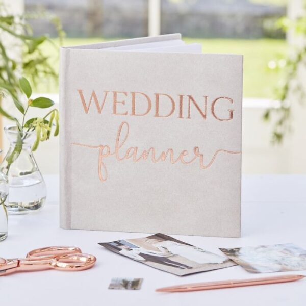 Botanical Wedding - Grey Fabric Wedding Planner