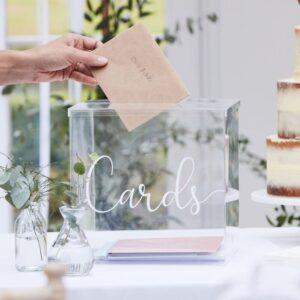 Botanical Wedding - Acrylic Card Box