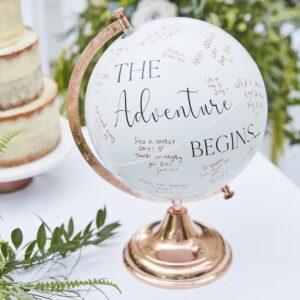 Botanical Wedding - Globe Guest Book
