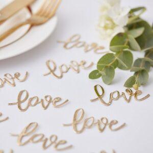 Gold Wedding -Confetti - Love gold