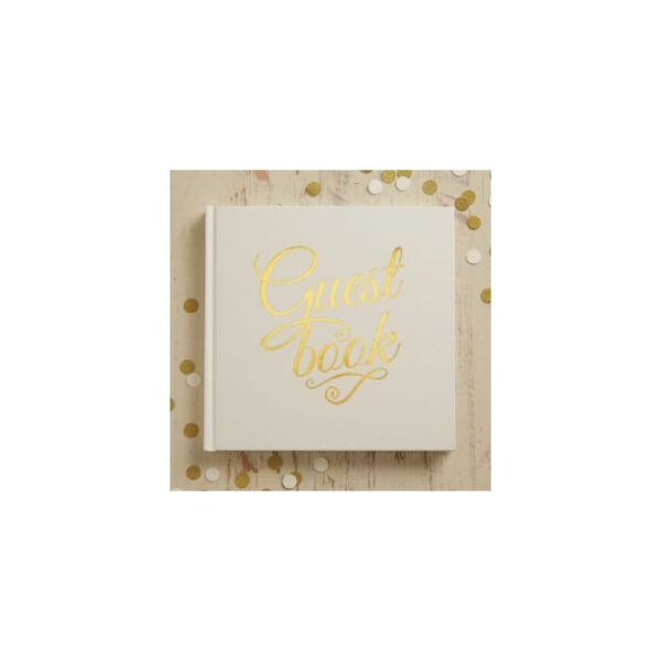 Metallic Perfection - Guest Book - Ivory & Gold